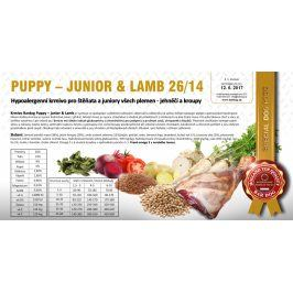 Puppy Junior Lamb hypoalergenní 26/14 - 1 kg