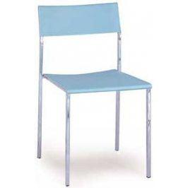 Autronic Jídelní židle CT-222 BLUE - Chrom/plast modrá