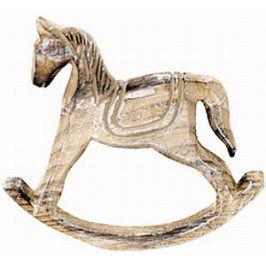 Autronic Dřevěný houpací kůň SHA627539