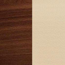 Stima Jídelní židle Nancy Tmavě hnědá/koženka beige