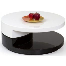 Halmar Konferenční stolek Madeleine - černo-bílý