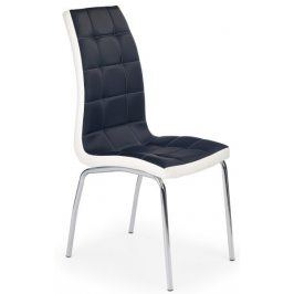 Halmar Jídelní židle K186 černobílá