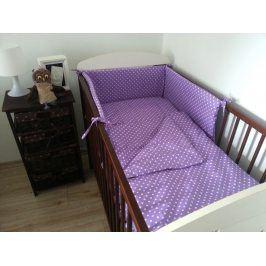 Forclaire Dětské povlečení Puntíky fialové 120 x 90