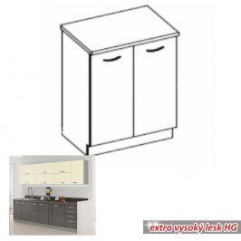 Tempo Kondela Kuchyňská skříňka PRADO 80 D 2F ZB - šedá