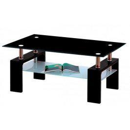 Falco Konferenční stolek A 08-3 černá/černé horní sklo