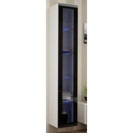 Cama Vitrína VIGO vysoká, prosklené dveře - bílá/černá