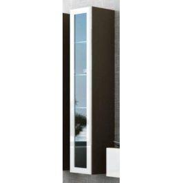 Cama Vitrína VIGO vysoká, prosklené dveře - latte/bílá