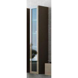 Cama Vitrína VIGO vysoká, prosklené dveře - latte