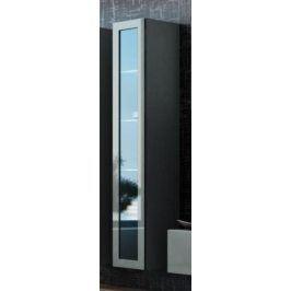 Cama Vitrína VIGO vysoká, prosklené dveře - šedá