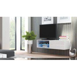 Halmar Televizní stolek Livo RTV-120W korpus černý/černá vysoký lesk