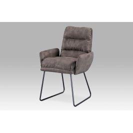 Autronic Jídelní židle Berlin BR3 - hnědá látka