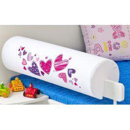 Forclaire Dětský chránič na postel - Srdíčka
