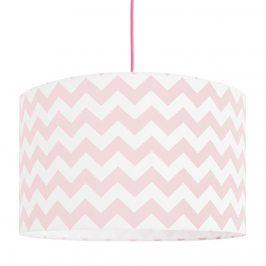 Forclaire Textilní závěsná lampa Cik Cak - růžová