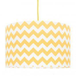 Forclaire Textilní závěsná lampa Cik Cak - žlutá