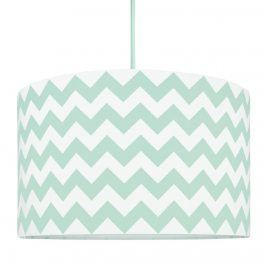 Forclaire Textilní závěsná lampa Cik Cak - mátová