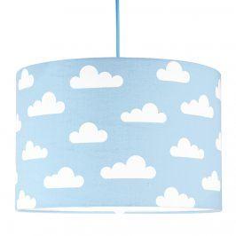 Forclaire Textilní závěsná lampa Obláčky - modrá