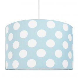 Forclaire Textilní závěsná lampa Puntíky - modrá