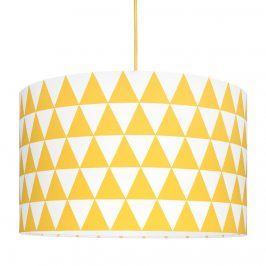 Forclaire Textilní závěsná lampa Triangle - žlutá