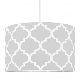 Forclaire Textilní závěsná lampa Maroko - šedá