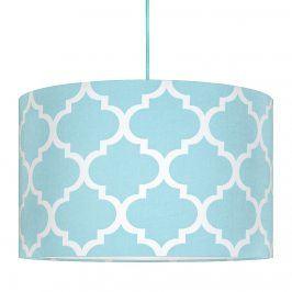 Forclaire Textilní závěsná lampa Maroko - modrá