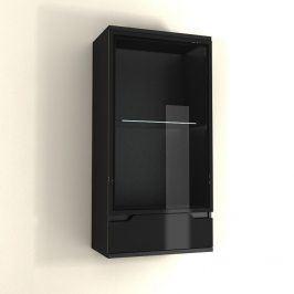 Tempo Kondela Závěsná vitrína ADONIS AS 08 - černá