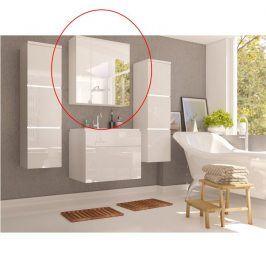 Tempo Kondela Skříňka se zrcadlem MASON - bílá / bílý lesk