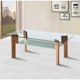 Tempo Kondela Konferenční stolek ADELO - dub sonoma + sklo