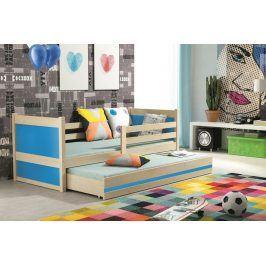 Falco Dětská postel Riky II 90x200 - borovice/modrá