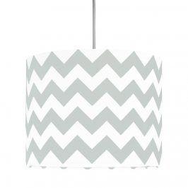 Forclaire Textilní závěsná lampa Cik Cak Mini - šedá
