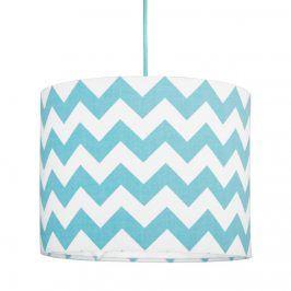Forclaire Textilní závěsná lampa Cik Cak Mini - tyrkysová