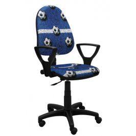 Vomaks Dětská židle EXTA FOTBAL MODRÁ