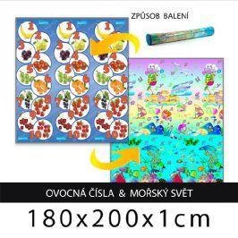 Forclaire Dětský pěnový koberec - ovocná čísla + mořský svět