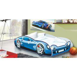 Forclaire Dětská postel Auto Speedy modré