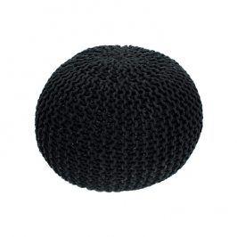 Tempo Kondela Pletený taburet GOBI TYP 2 - černá bavlna