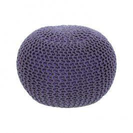 Tempo Kondela Pletený taburet GOBI TYP 2 - fialová bavlna