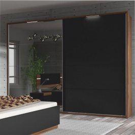 Tempo Kondela Dřevěný rám s LED osvětlením ke skříni DEGAS