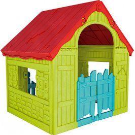 Rojaplast Dětský domeček FOLDABLE PLAYHOUSE - zelený