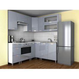 Falco Rohová kuchyňská linka Grepolis - šedý lesk/KRF