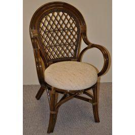 Axin Trading Ratanová židle Bali hnědá