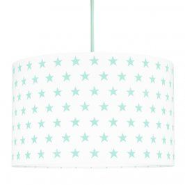 Forclaire Textilní závěsná lampa Hvězdy - mátová