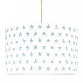 Forclaire Textilní závěsná lampa Hvězdy - šedá