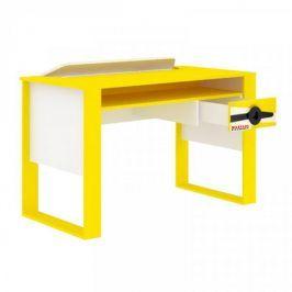 Lubidom Psací stůl Aviator - bílý černý, žlutý