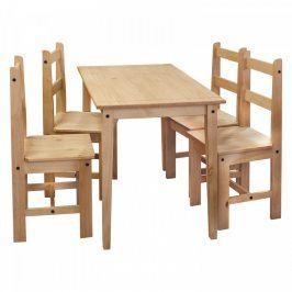 Idea Stůl + 4 židle CORONA 2 vosk 161611