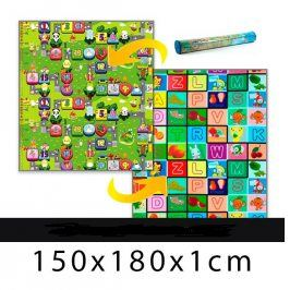Forclaire Dětský pěnový koberec - číselna ulička + kostky 150x180x1cm