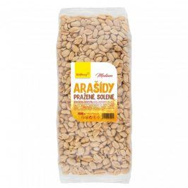 Arašídy medium pražné solené 1kg Wolfberry
