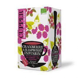 BIO Čaj Cupper Cranberry and Raspberry infusion - brusinkovo malinový čaj 20 sáčků
