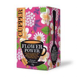 BIO Čaj Cupper Flower power - bylinný čaj s heřmánkem bezinkou a ibiškem 20 sáčků