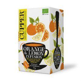 BIO Čaj Cupper Orange and Lemon infusion - pomerančovo citrónový čaj 20 sáčků