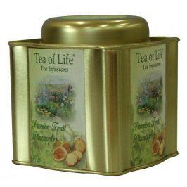 Čaj Tea of Life Passion Fruit Pineapple Čaj zelený, černý mučenka a ananas sáčkovy 24 ks v plechu