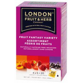 Čaj Fruit Fantasy variety pack - ovocná variace 20 sáčků London fruit and herbs